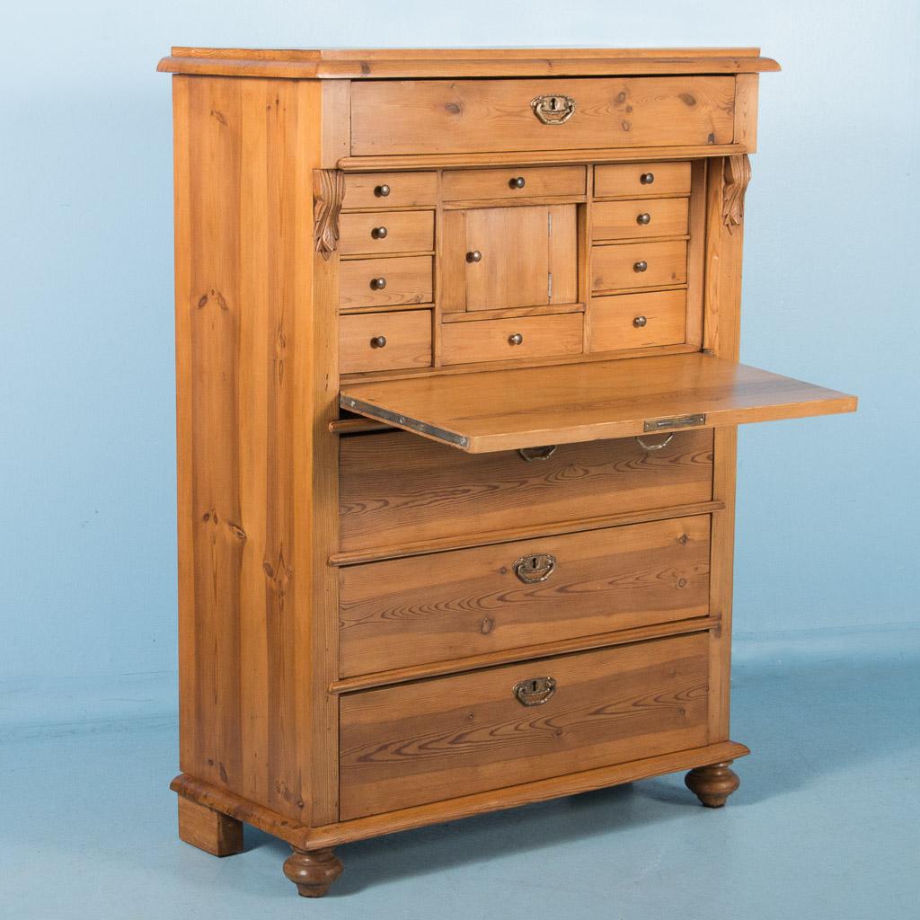 Antique 19th Century Pine Secretary Desk From Sweden Ebay