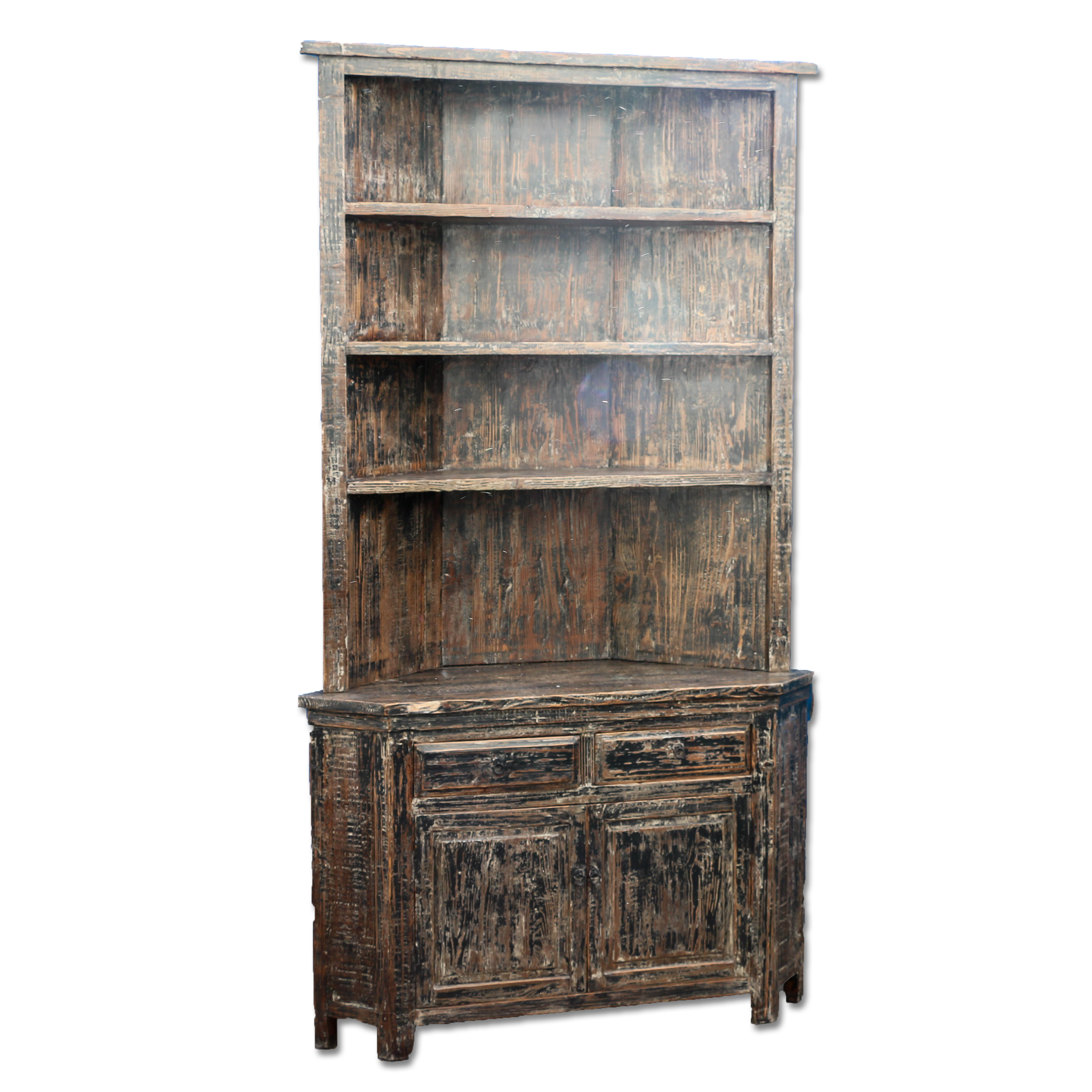 Pine Corner Cabinet With Distressed Black Paint  sc 1 st  Scandinavian Antiques & Corner Cabinets | Scandinavian Antiques | European Antiques