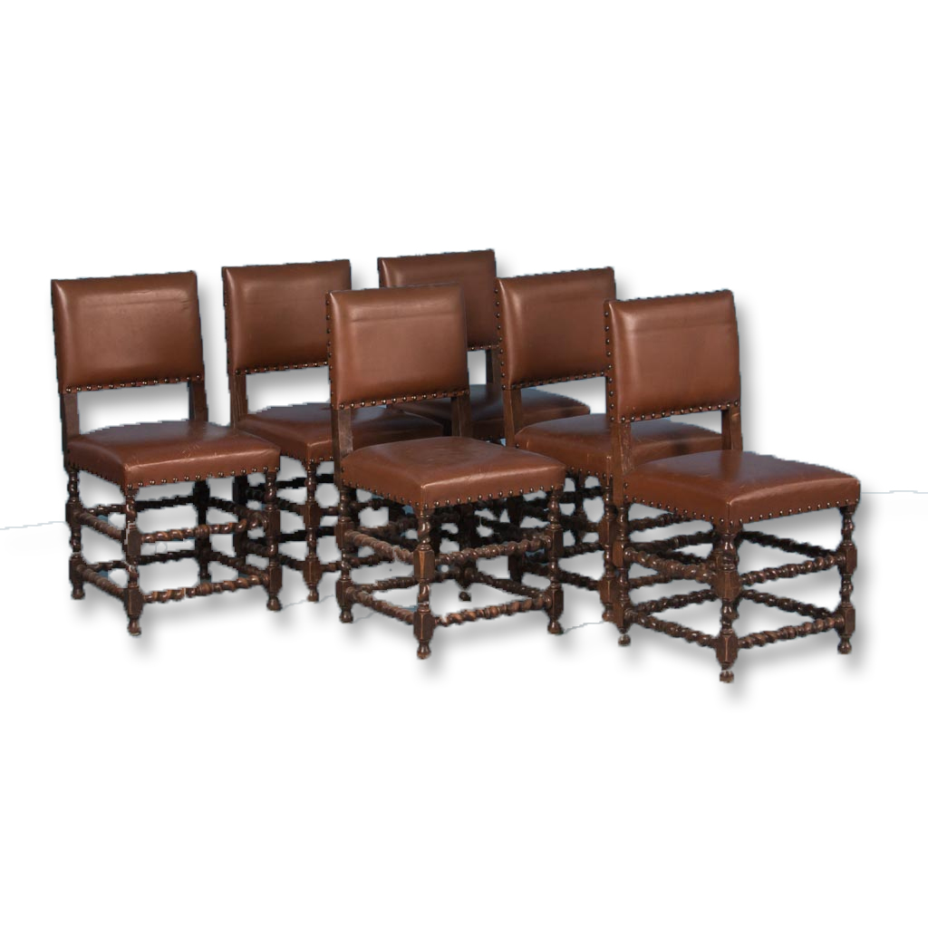 Remarkable Set Of Six 19Th Century Antique Danish Barley Twist Dining Pabps2019 Chair Design Images Pabps2019Com