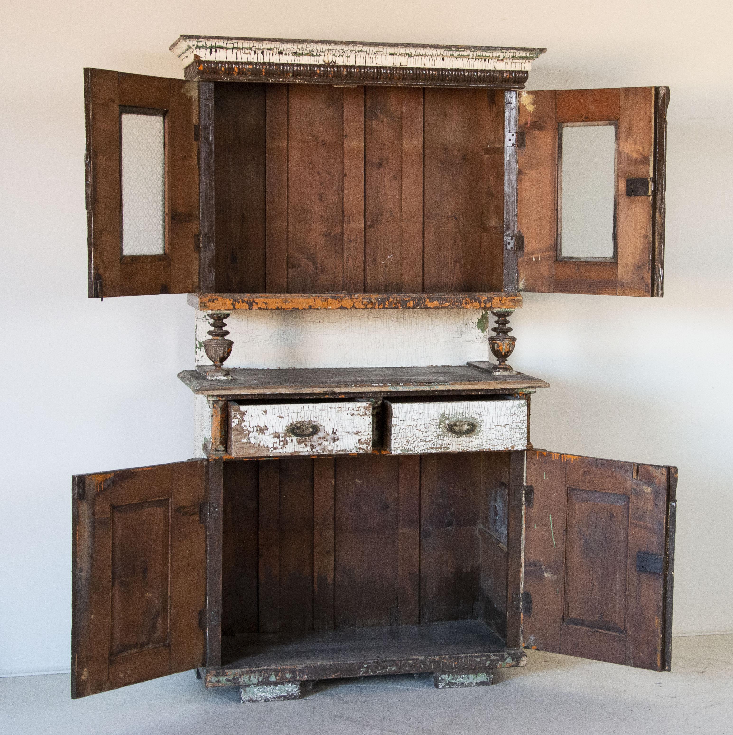 White Kitchen Cabinets Ebay: Antique Kitchen Cabinet Cupboard White Original White