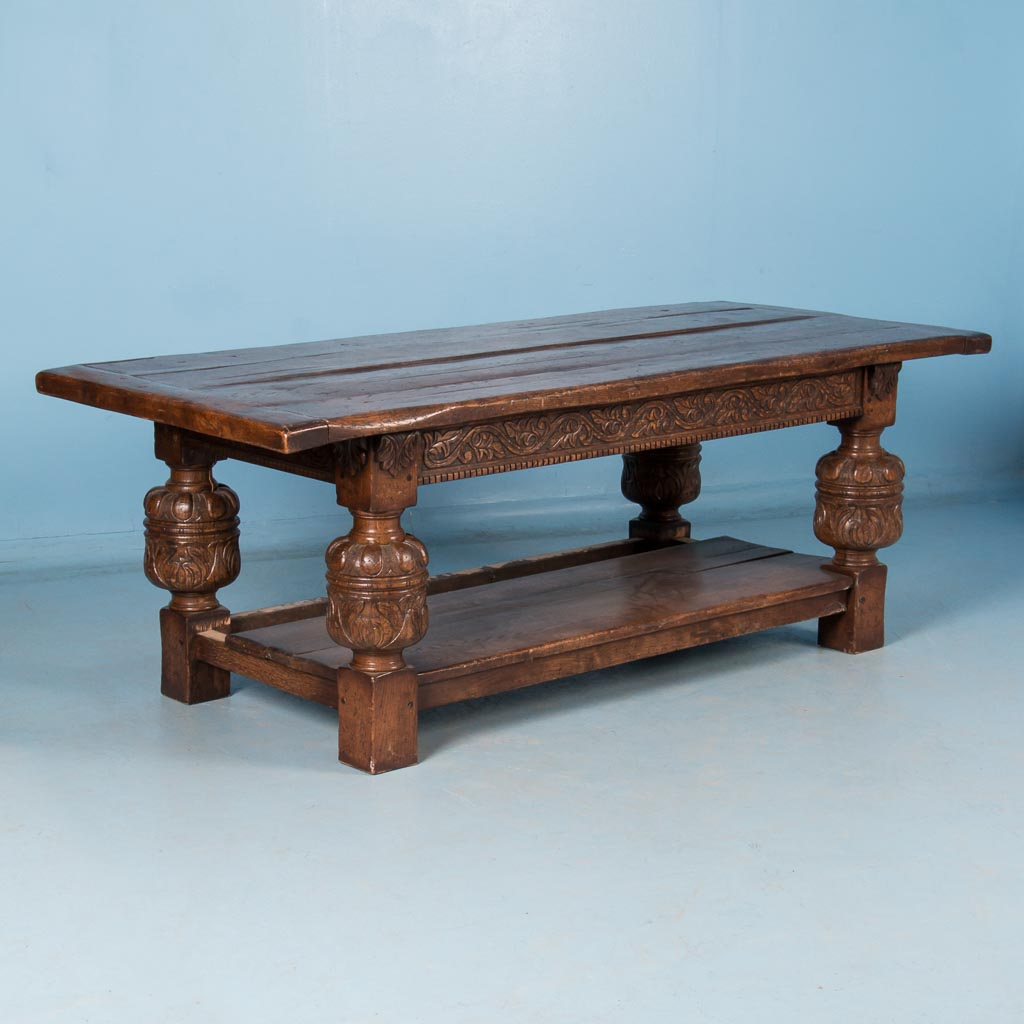 Carved Jacobean Style Oak Dining Tablereturn To Tables