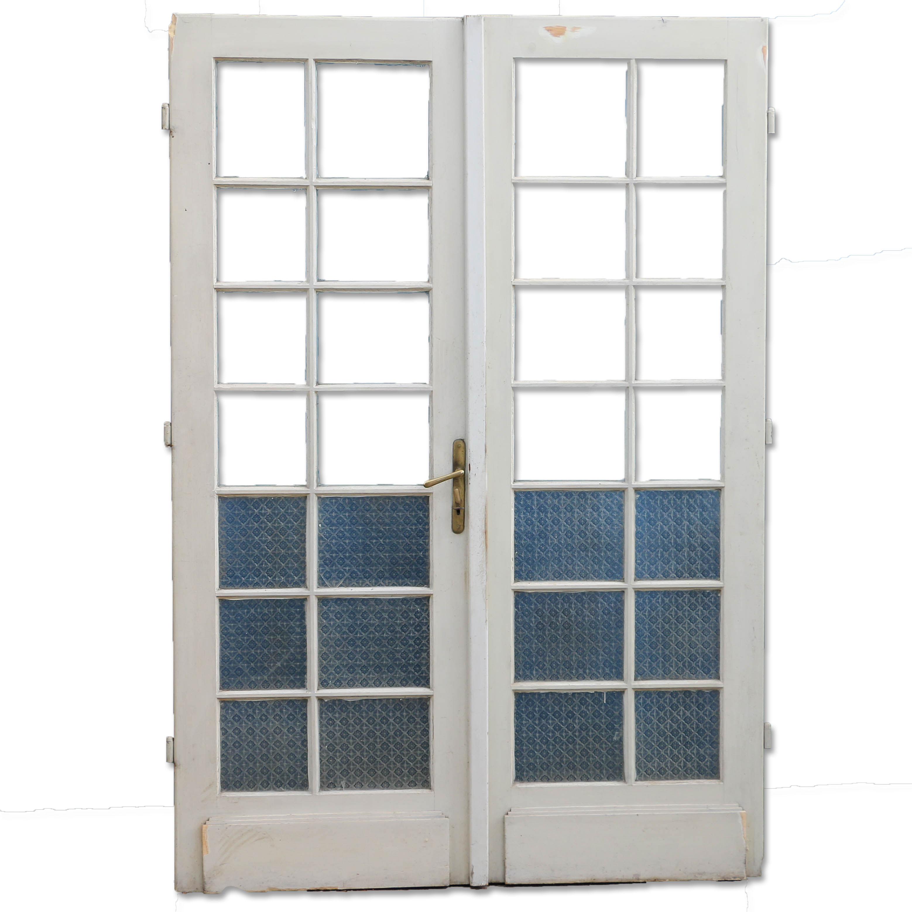 Pair Of Antique French Doors Painted White