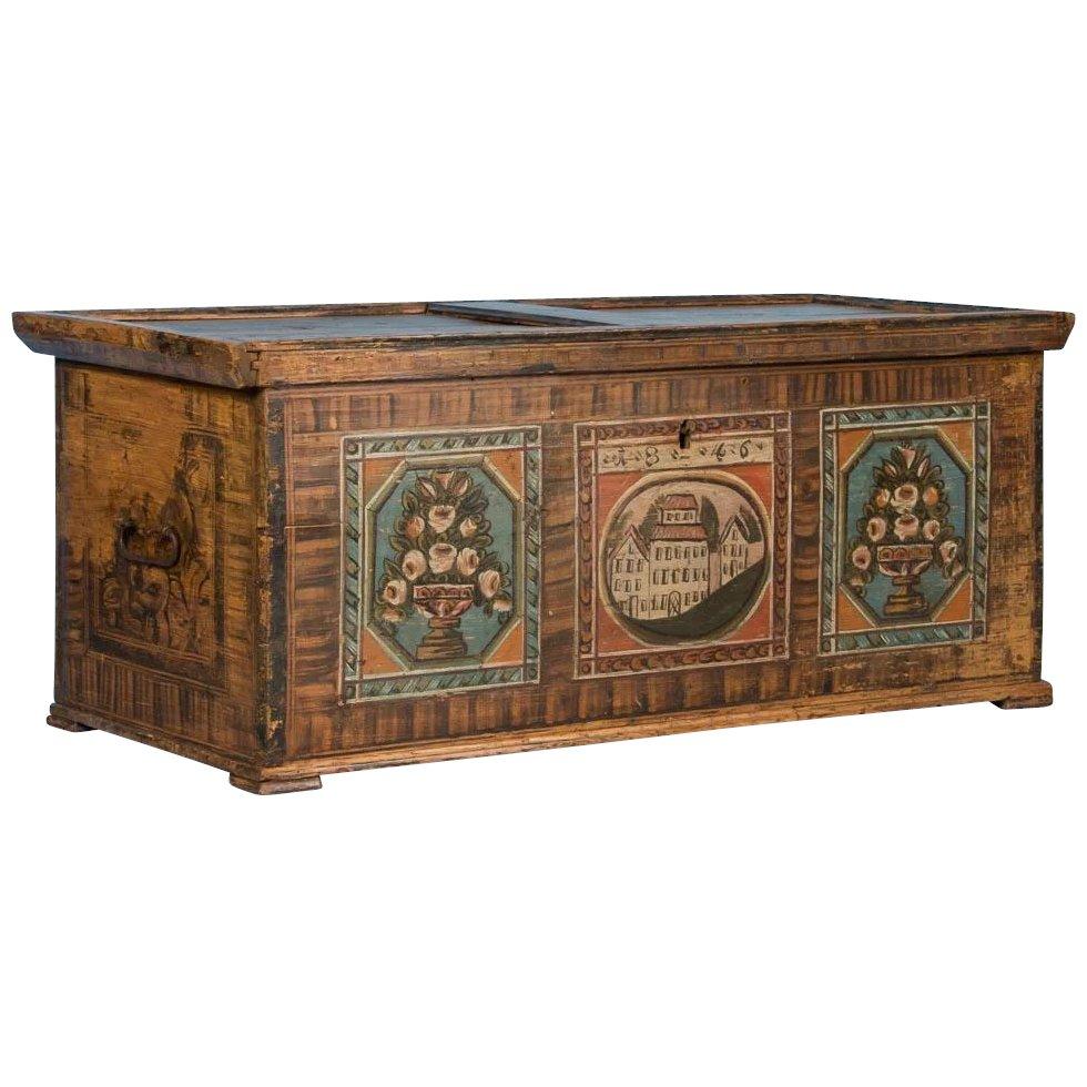 trunks blanket chests scandinavian antiques