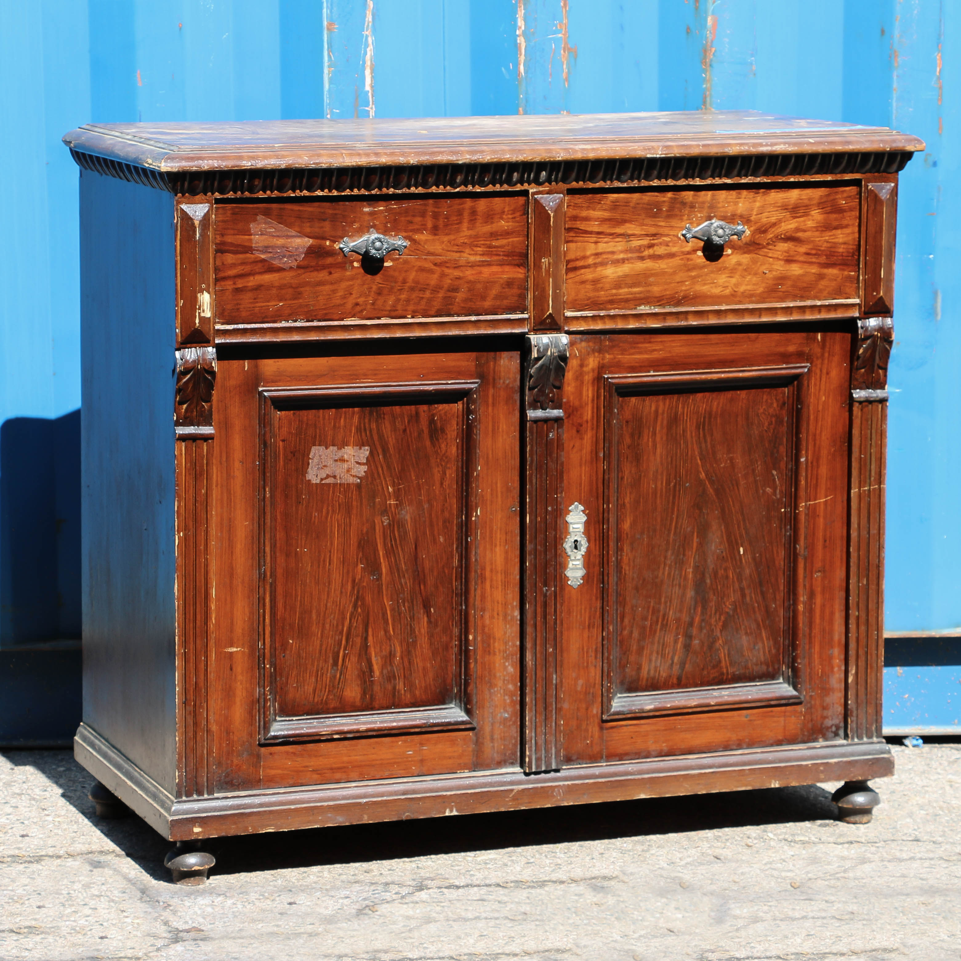 Antique Grain Painted Pine Sideboard Cabinet Return To Cabinets U0026 Cupboards