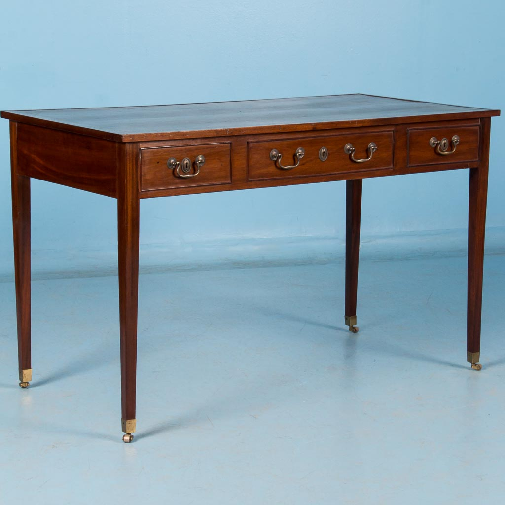 Antique th century english mahogany writing desk with