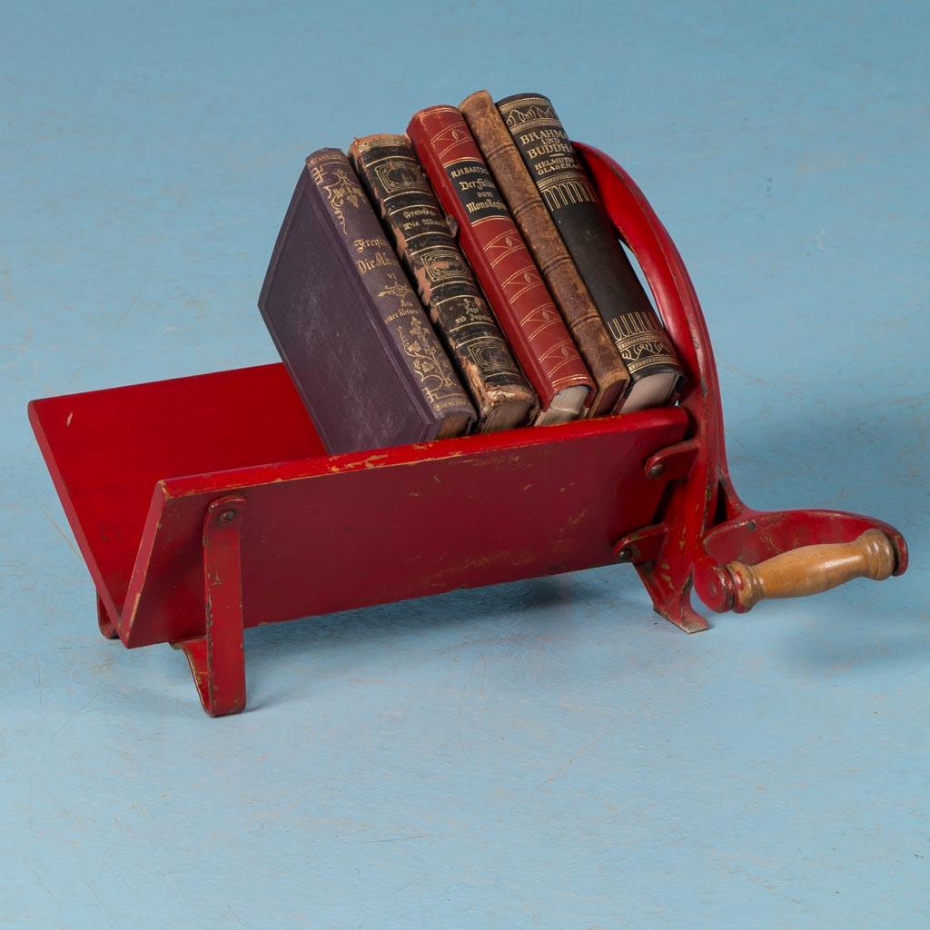 Red antique cast iron danish bread cutter ebay