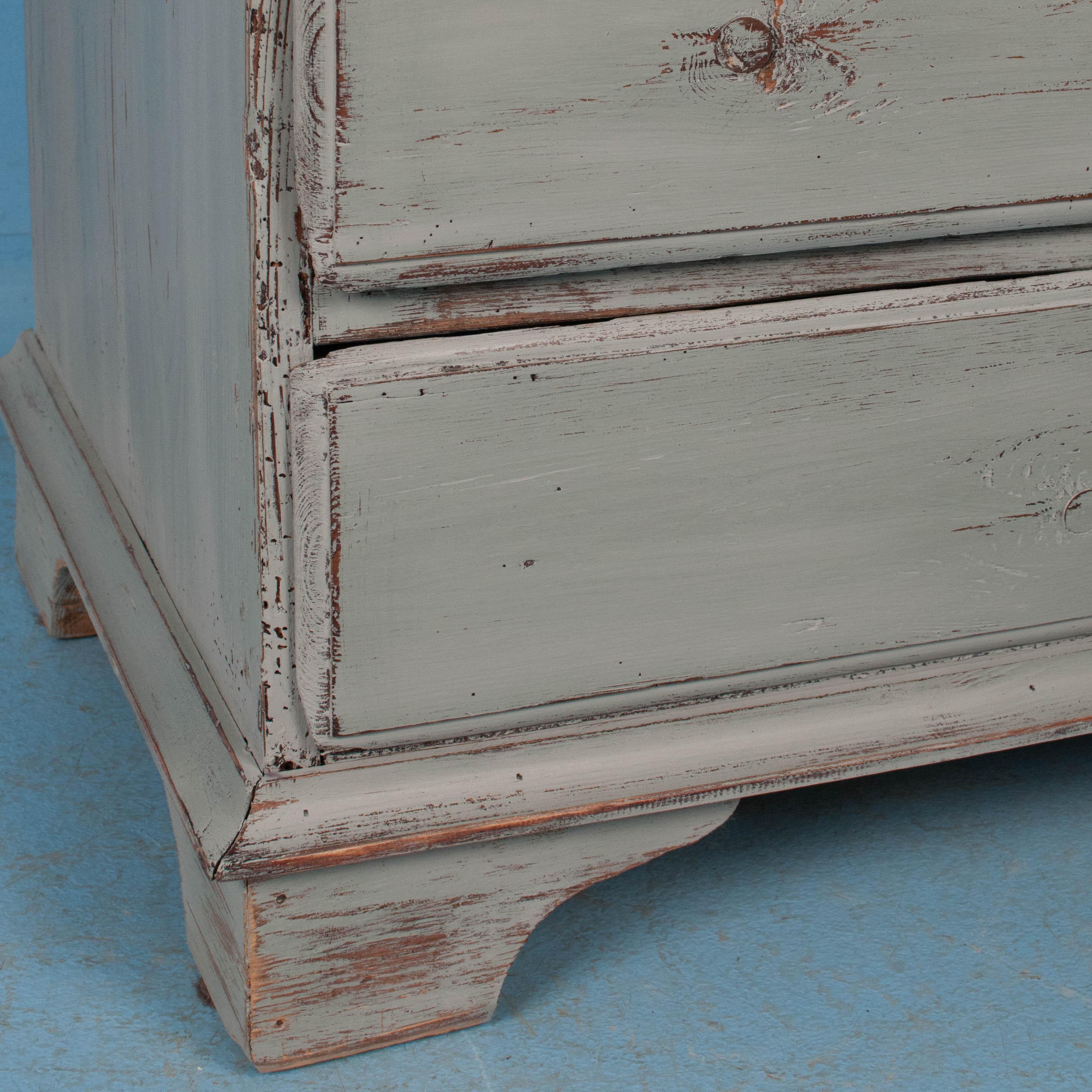 Delightful Antique Drop Front Bureau Desk With Soft Gray