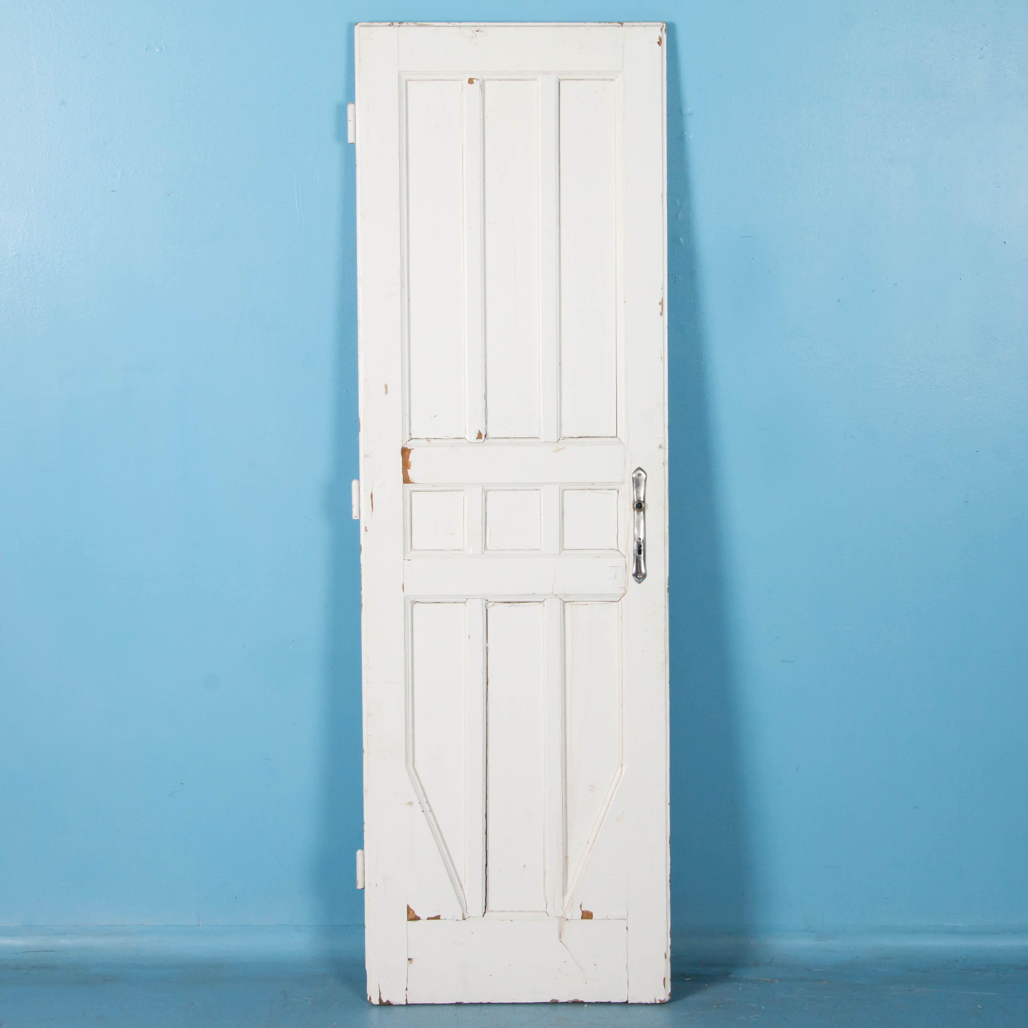 Early 20th Century Antique Interior Door From Sweden Painted White