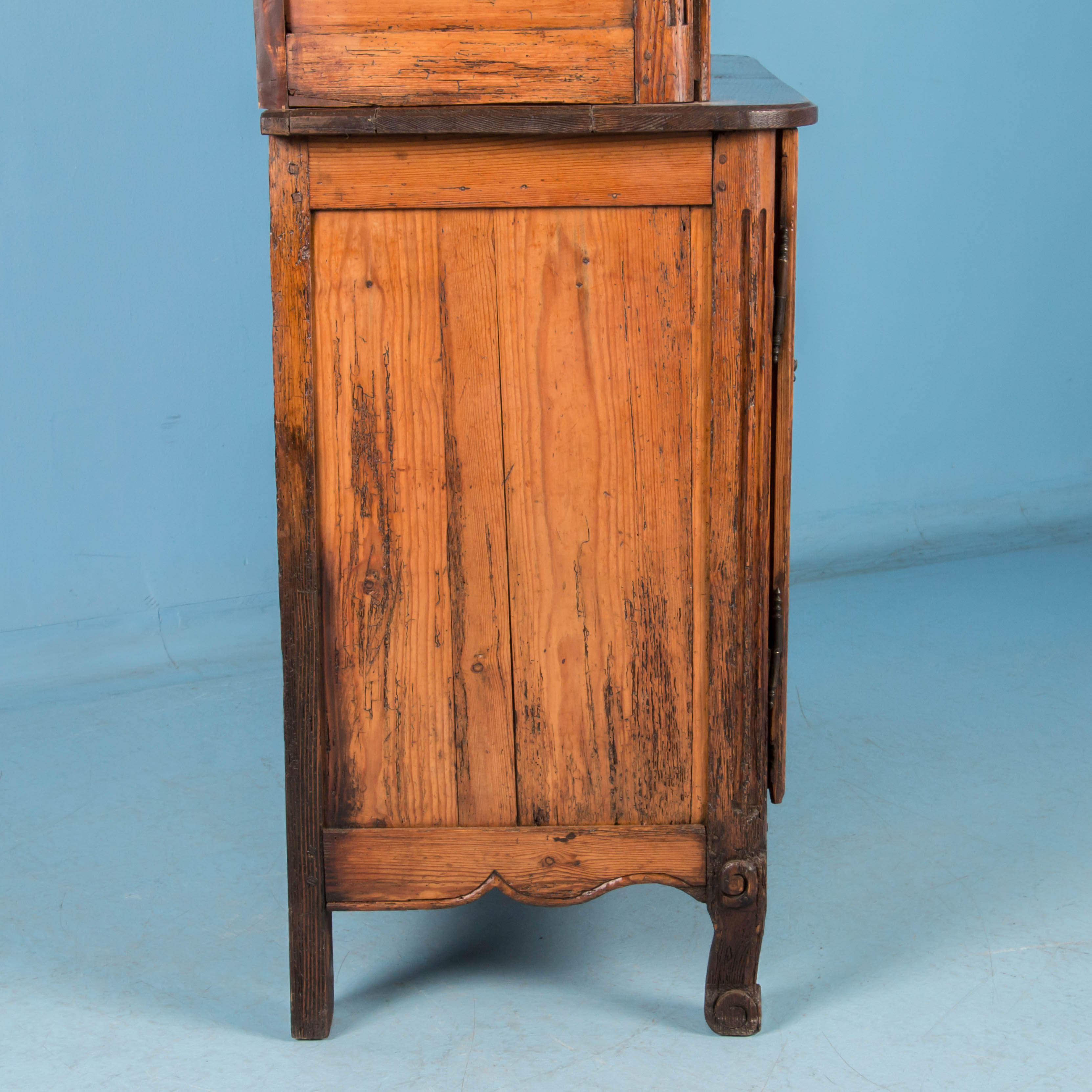 Antique 19th Century Hand Carved French Provincial Bookcase Cabinet ...