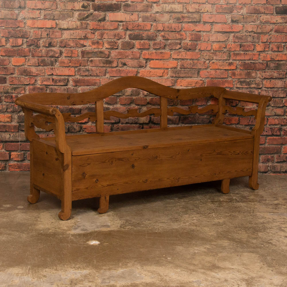Excellent Details About Antique Country Pine Storage Bench From Sweden Frankydiablos Diy Chair Ideas Frankydiabloscom