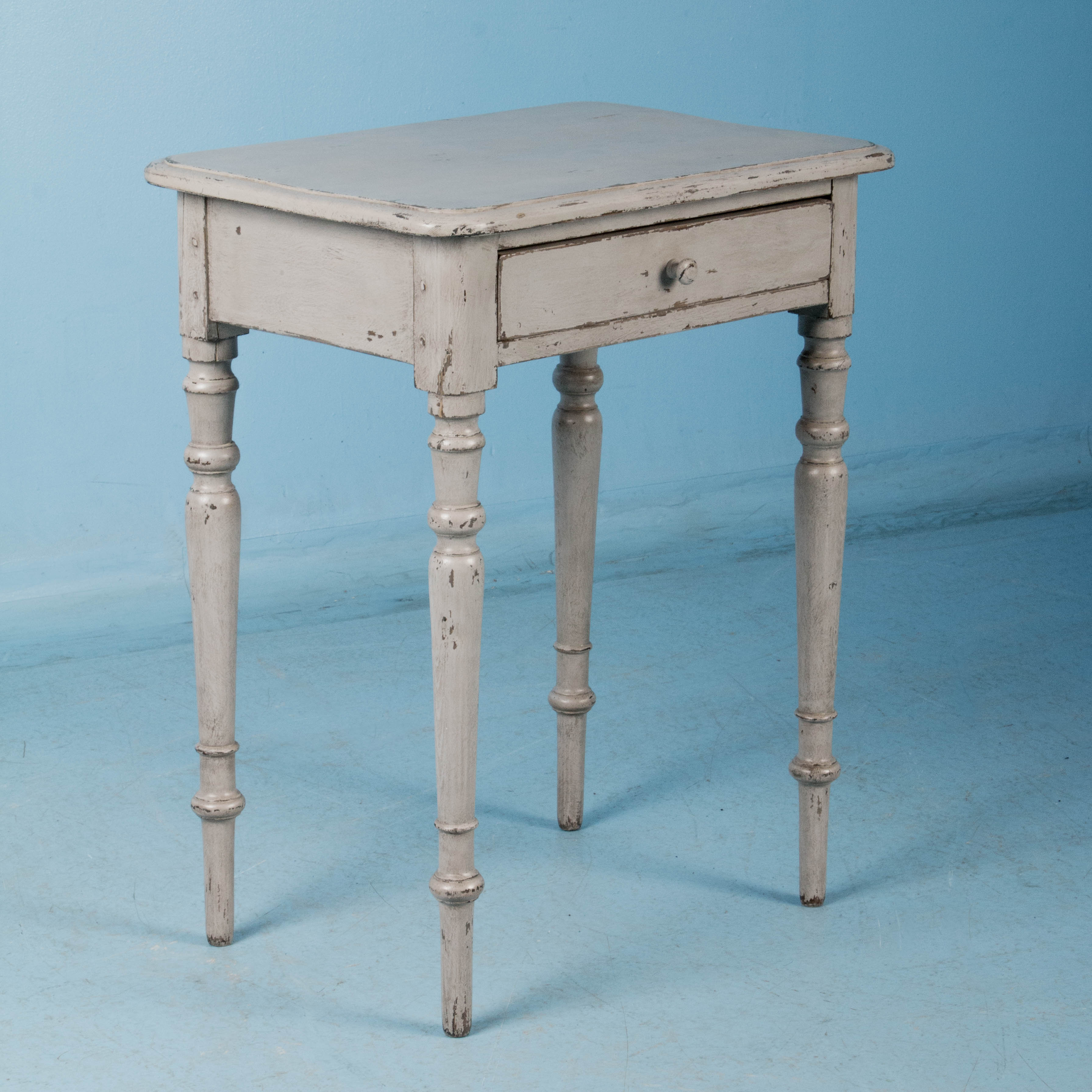 Small Antique Danish Country Side Table Painted GrayReturn to Nightstands. Small Antique Danish Country Side Table Painted Gray