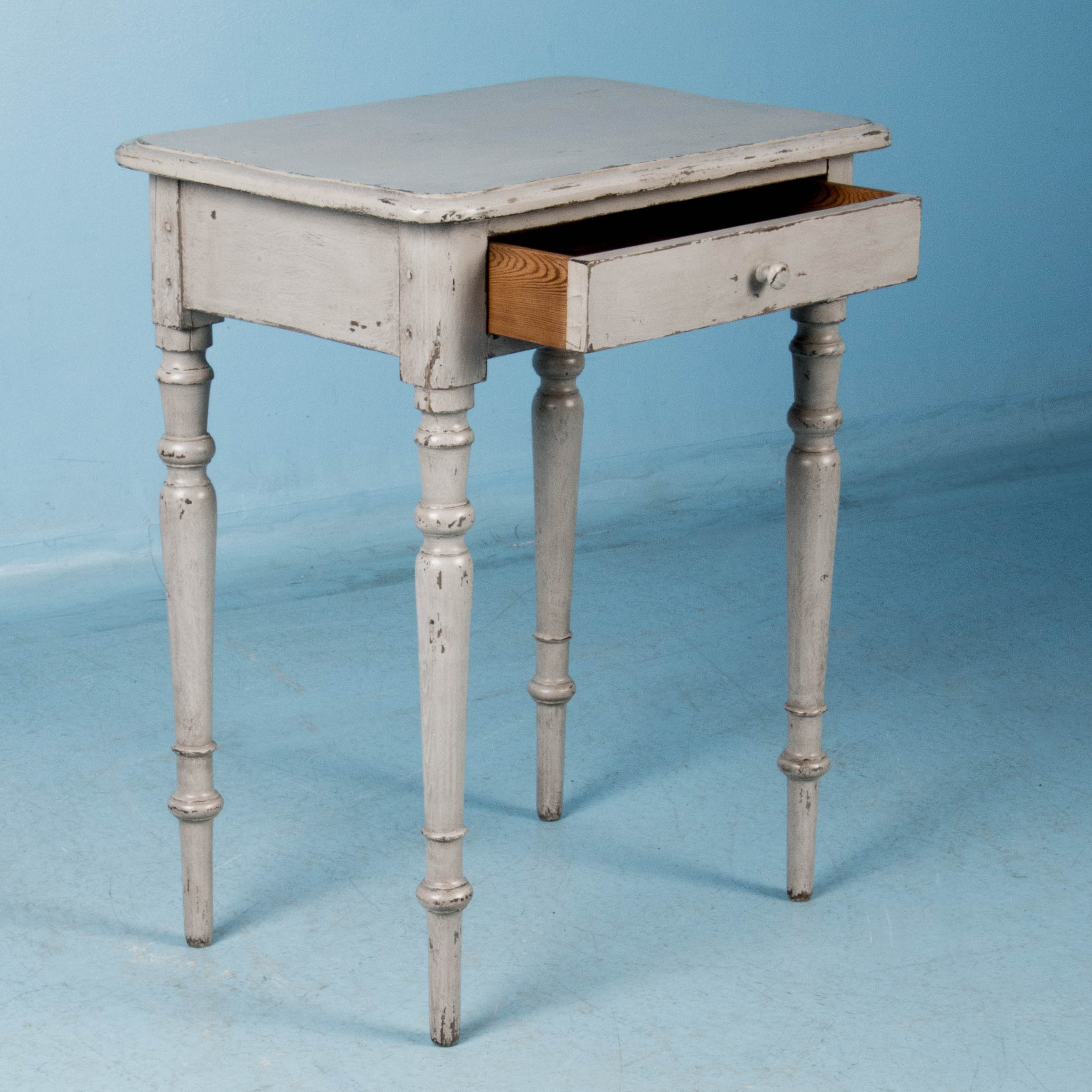 antique grey end table small antique country side table painted gray 4092
