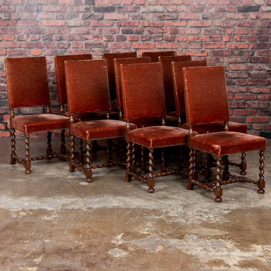 Enjoyable Juego De 10 Sillas Roble Danes Cebada Giro Lateral Con Alphanode Cool Chair Designs And Ideas Alphanodeonline
